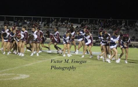 Cheerleaders balance life and stunts